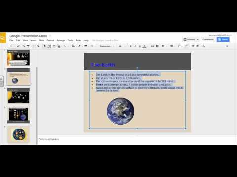 Changing Text Color, Fill, or Background Color in a Google Presentation.