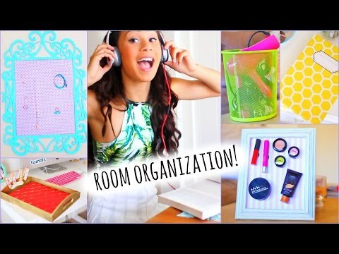 Cute and Easy DIY Room Decorations + Tips/ How to Get Organized!