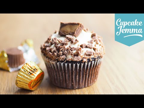How to make Peanut Butter Cup Cakes | Cupcake Jemma