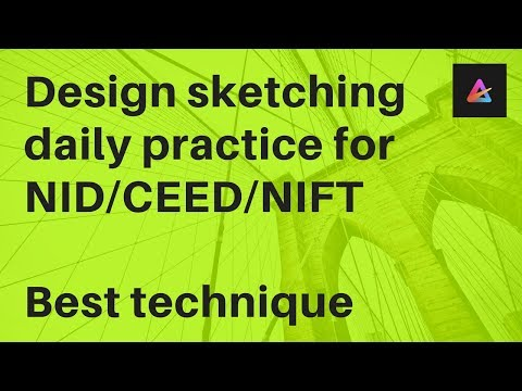 Design sketching daily practice for NID/CEED/NIFT