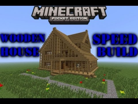 Awesome Minecraft PE  Small Wooden House - Speed Build