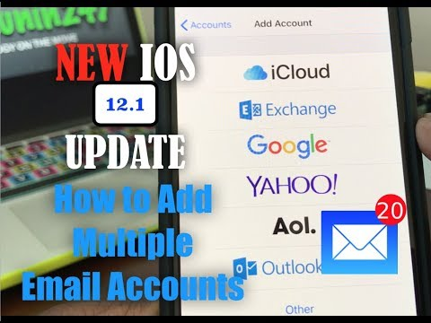 iPhone Xs & Xs Max: How To Add Multiple Email Accounts, With The New IOS Update 12.1