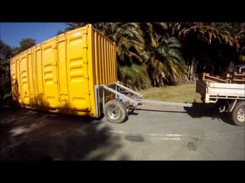 shipping container becomes trailer