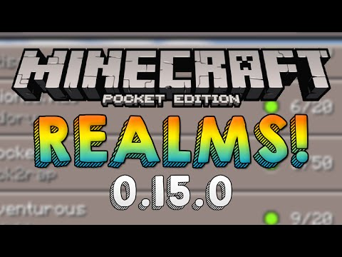 Minecraft PE 0.15.0 RELEASED! - MCPE Realms Multiplayer Beta Update! (Pocket Edition)