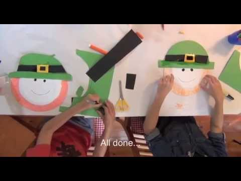 How to make leprechaun heads for St Patrick's Day