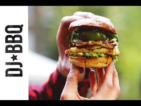 Halloumi & smashed avocado burger -  B&Q Open Garden Party- ad