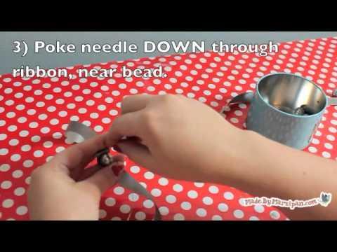 Ribbons & Ruffles Pearl Necklace Tutorial