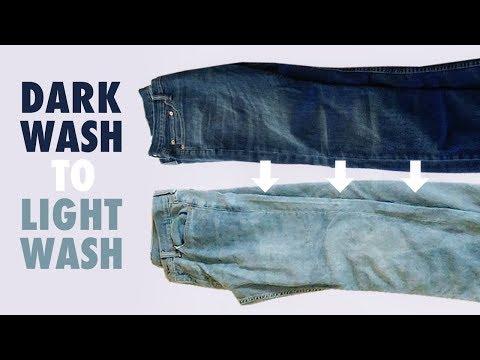 Dark Wash Jeans to Light Wash Jeans - How to Bleach Denim