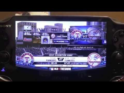 PS Vita MLB 12 The Show Hands on