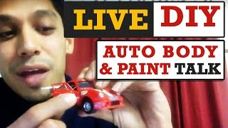 Live DIY Auto Body & Paint Talk (your questions answered) with Tony Bandalos