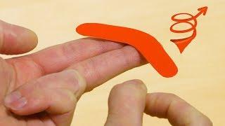 DIY Mini Boomerang Toy!