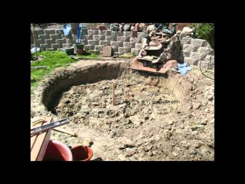 How To Build a Backyard Concrete Pond or Pool - Part One Digging