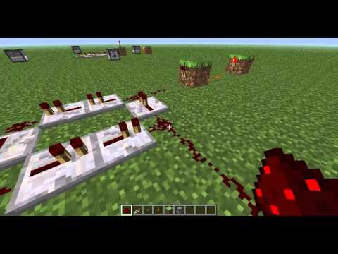 How To Make A Simple Redstone Circuit Minecraft (Repeater Clock)