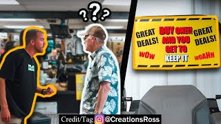 Putting Terrible Deal Signs in Store Windows Prank