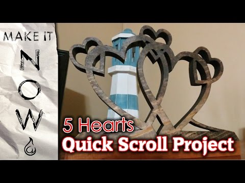 Easy 5 Heart Scroll Saw Project - Make It Now #1