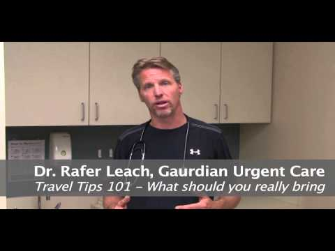 Guardian Urgent Care: Healthcare travel tips.
