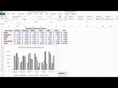 Excel 2013 3D Clustered Column Chart