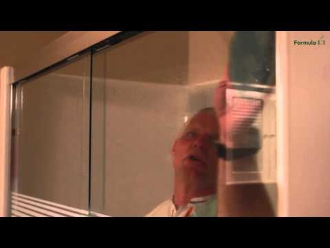 Cleaning Shower Doors made easy with Formula 101