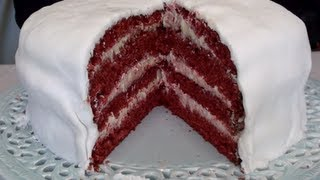 Four Layer Red Velvet Cake Video Recipe