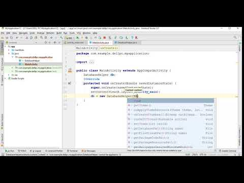 Insert data into table | Sqlite database | Android Studio