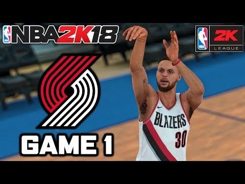 NBA 2K18 YouTuber Online MyLeague Playoffs - ROUND 1 GAME 1 vs STEPH CURRY