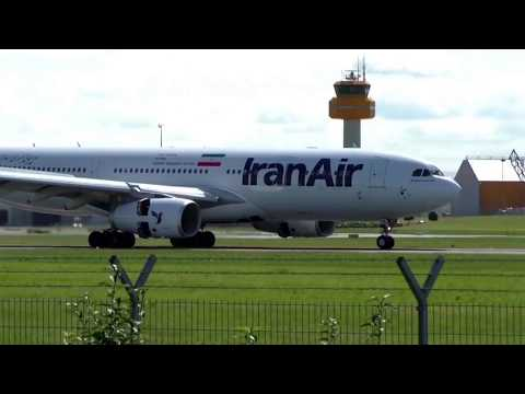 Iran Air´s new Airbus A330-200 / EP-IJA / shortly cut from landing & takeoff Hamburg Airport