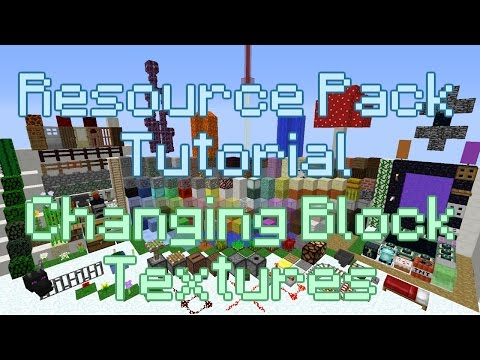 Minecraft Resource Pack Tutorial | Changing Block Textures (1.9.X,1.10.X,1.11.X)