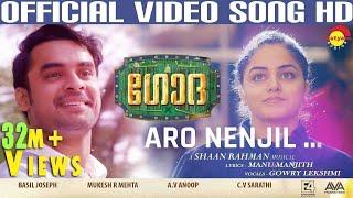 Aaro Nenjil Video Song with Lyrics | Godha Official | Tovino Thomas | Wamiqa Gabbi | Shaan Rahman