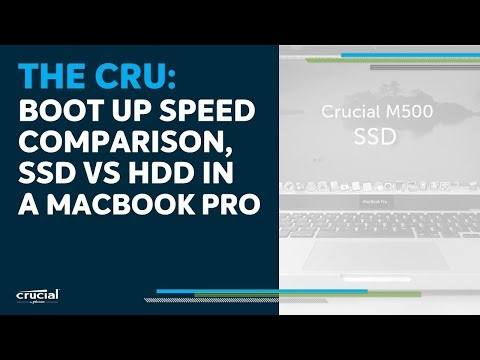 THE CRU: Boot up speed comparison, SSD vs. HDD in a MacBook Pro computer