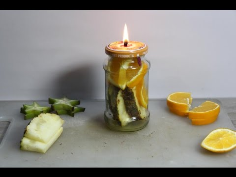 Make your own scented mason jar candles - diy