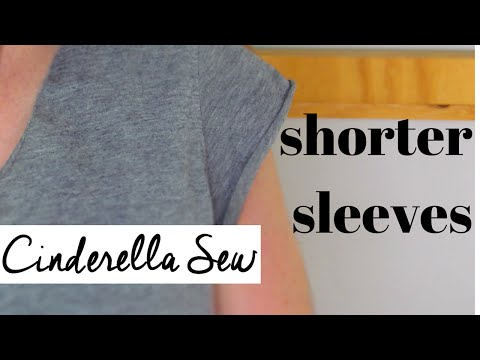How to cut shorter sleeves on a tshirt - Cut cap sleeves - Easy DIY Tutorial - Cinderella Sew