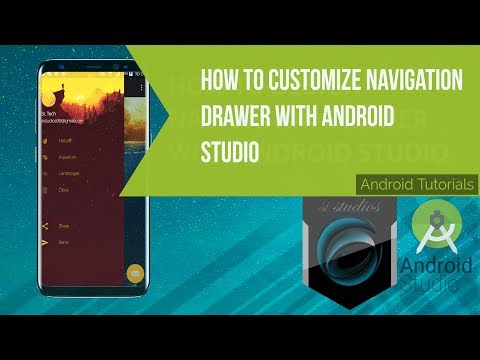 How to customize navigation drawer