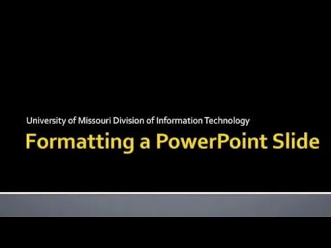 Division of IT   Formatting PowerPoint for a Large Format Plotter