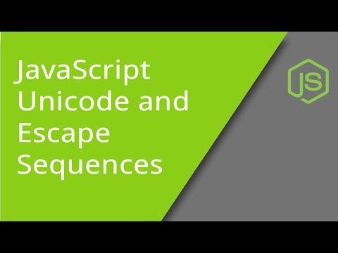 JavaScript Unicode Characters and Escape Sequences