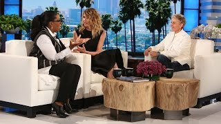 Ellen, Oprah & Laura Dern on the