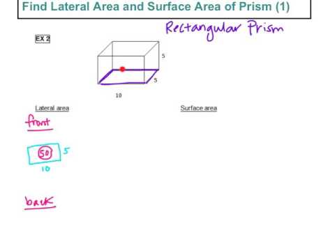 Find Lateral Area and Surface Area of Prism (1)