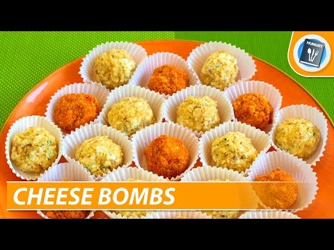 Fresh cheese bombs with garlic - easy recipe