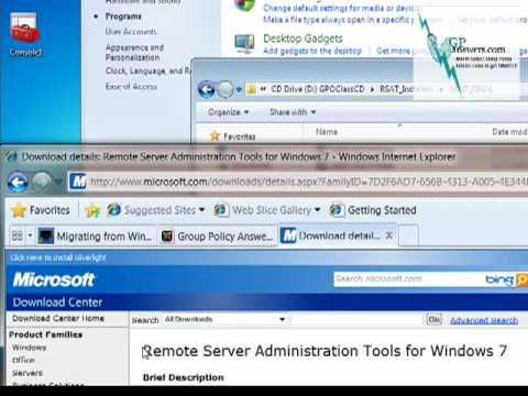 Install RSAT / GPMC on Windows 7 and WS08 R2