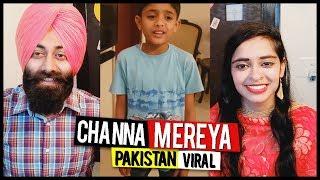 Indian Reaction on Pakistani Kid Arshaman   Channa Mereya   Viral Video