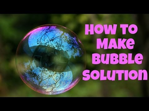 How to Make Bubble Solution - basic recipe