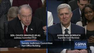 Senator Grassley asks Judge Gorsuch about Cameras in the Court (C-SPAN)
