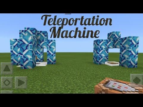 MineCraft- How To Make Teleportation Machine?! W/ Command Block