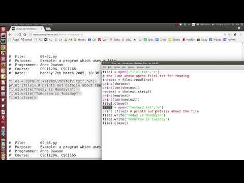 Python files read write
