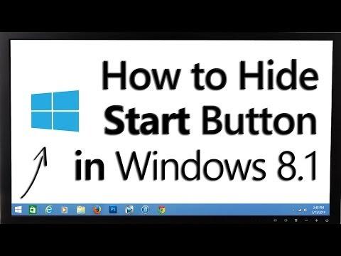 How to Hide Start Button in Windows® 8.1 - AskRam