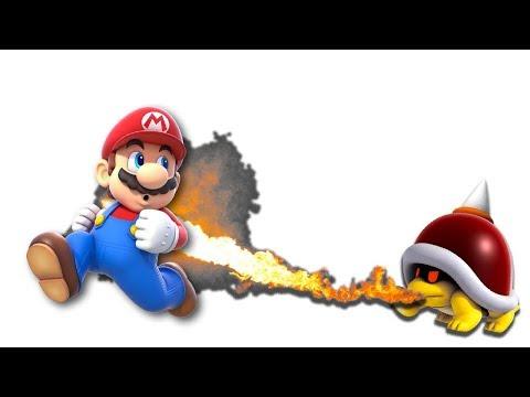 Super Mario Maker - Tips and Tricks - Fire Breathing Enemies-  Tutorial