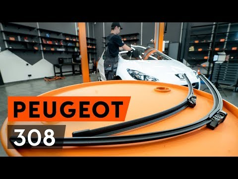 How to replace front wiper blades / front wipers onPEUGEOT 308 1T7 (4A_, 4C_) [TUTORIAL AUTODOC]