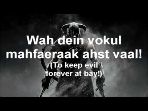 Skyrim: The Song of the Dragonborn (with lyrics)