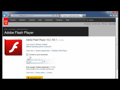 Download and Install Flash Player from Internet Explorer 9