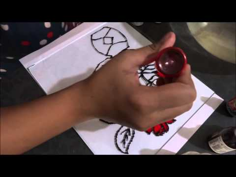 Glass painting - how to paint a rose in easy steps.