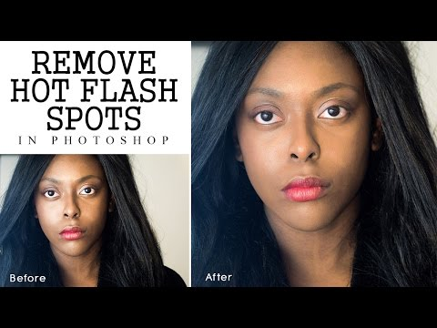 Photoshop Tutorial - Remove Camera Flash Reflections on Face